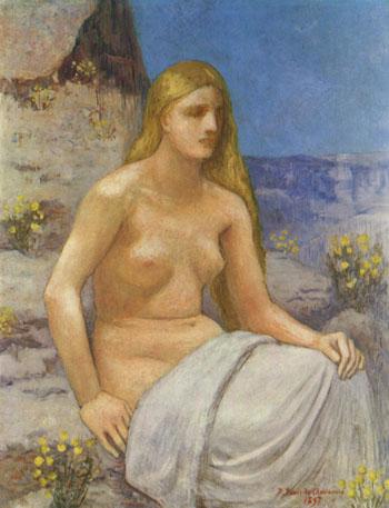 Die Bubende Magdalena 1897 - Pierre Puvis de Chavannes reproduction oil painting