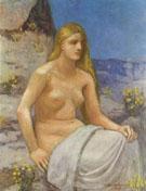 Die Bubende Magdalena 1897 - Pierre Puvis de Chavannes