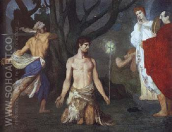 The Beheading of Saint John the Baptist 1869 - Pierre Puvis de Chavannes reproduction oil painting