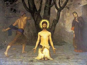 The Beheading of St John The Baptist - Pierre Puvis de Chavannes reproduction oil painting