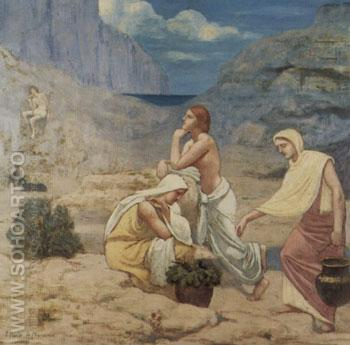 The Shepherd Song 1897 - Pierre Puvis de Chavannes reproduction oil painting