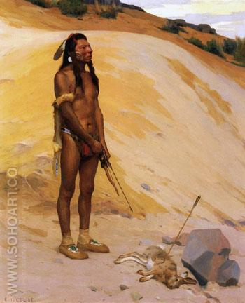 An Indian Hunter 1897 - E Irving Couse reproduction oil painting