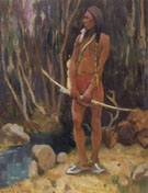Approximate 1913 - E Irving Couse reproduction oil painting