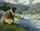 Bow Fishing Along the Rio Grande 1916 - E Irving Couse reproduction oil painting