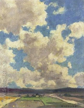 Clouds Over Taos Valley 1911 - E Irving Couse reproduction oil painting