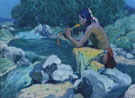 Flute Player 1930 - E Irving Couse reproduction oil painting