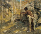 Hunting The Turkey In The Aspens 1926 - E Irving Couse reproduction oil painting