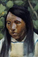 Indian Portrait - E Irving Couse reproduction oil painting