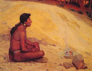 Indian Seated by A Campfire 1898 - E Irving Couse