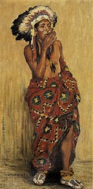 Indian with Blanket - E Irving Couse