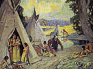 Indian Camp - E Irving Couse