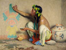 Kachina Painter 1917 - E Irving Couse reproduction oil painting