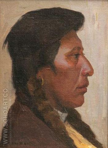 Klikitet Head - E Irving Couse reproduction oil painting