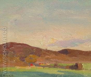 Landscape c1920 - E Irving Couse reproduction oil painting