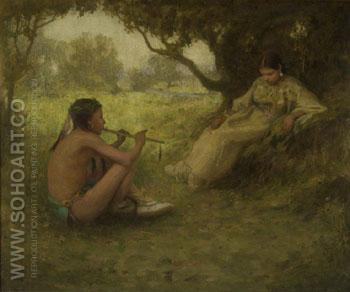 Lover 1905 - E Irving Couse reproduction oil painting