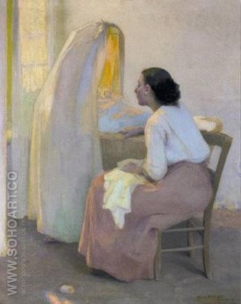 Maternity 1894 - E Irving Couse reproduction oil painting