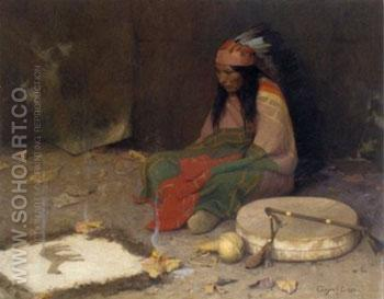 Medicine Man 1897 - E Irving Couse reproduction oil painting