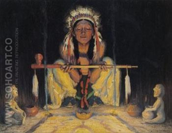 Offering to the Great Spirit - E Irving Couse reproduction oil painting