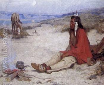 Pawhyumma Umitilla Indian 1892 - E Irving Couse reproduction oil painting