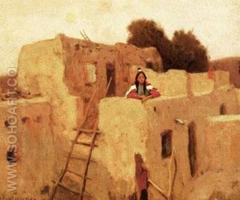 Taos Maiden - E Irving Couse reproduction oil painting
