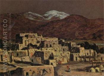 Pueblo Moonlight - E Irving Couse reproduction oil painting