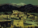 Pueblo Moonlight and Snow - E Irving Couse