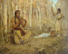 The Flute Song Painting - E Irving Couse