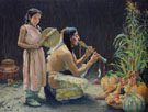 The Harvest Song 1920 - E Irving Couse reproduction oil painting