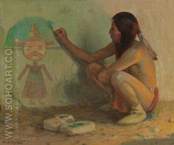 The Kachina Painter - E Irving Couse reproduction oil painting