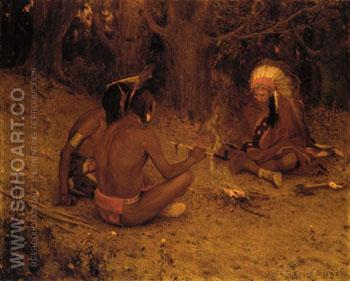 The Peace Pipe 1902 - E Irving Couse reproduction oil painting