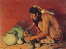 The Pottery Maker 1930 - E Irving Couse reproduction oil painting