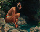 The Spirit of the Pool - E Irving Couse reproduction oil painting
