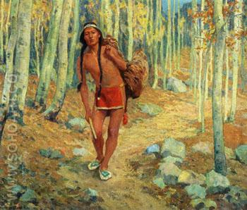 The Successful Hunter 1913 - E Irving Couse reproduction oil painting