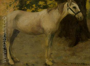 Untitled Study of a Horse - E Irving Couse reproduction oil painting