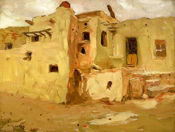 Walpi Pueblo 1903 - E Irving Couse reproduction oil painting