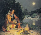 Warming Hands By The Stream - E Irving Couse