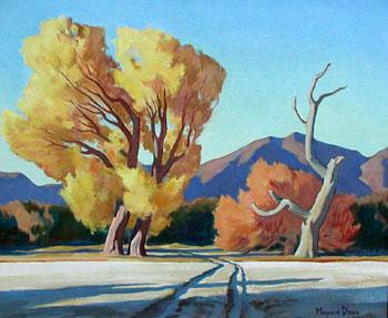 Cottonwood Crossing - Maynard Dixon reproduction oil painting