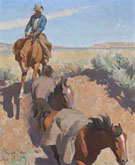 Cut Bank Tucson 1942 - Maynard Dixon reproduction oil painting