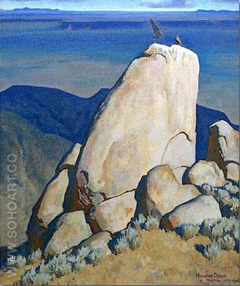 Eagles Roots - Maynard Dixon reproduction oil painting