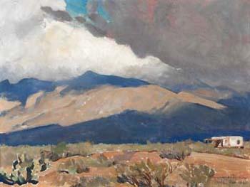 Fast Moving Shadows - Maynard Dixon reproduction oil painting