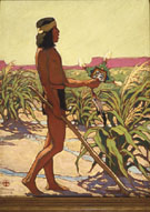 Guard of the Cornfield - Maynard Dixon reproduction oil painting