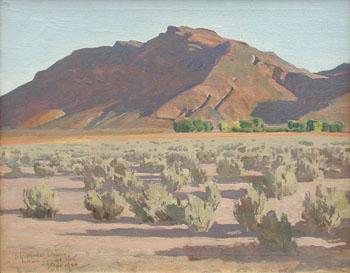 Hills at Indian Springs - Maynard Dixon reproduction oil painting