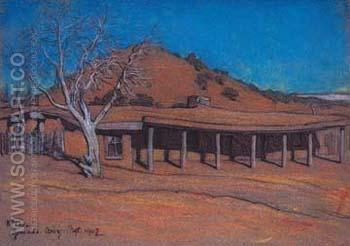 Hubbell Trading Post - Maynard Dixon reproduction oil painting