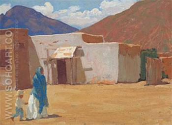 In Old Tucson 1907 - Maynard Dixon reproduction oil painting