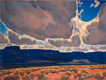 Mesas in Shadows 1926 - Maynard Dixon reproduction oil painting