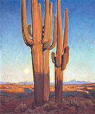 Saguaros at Sunset 1925 - Maynard Dixon