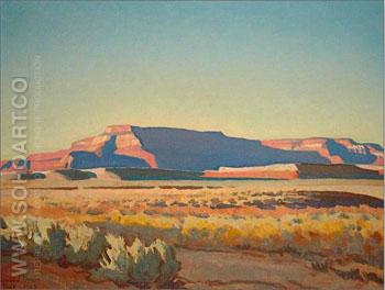 Striped Mesa - Maynard Dixon reproduction oil painting