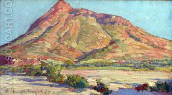 Tempe Butte c1915 - Maynard Dixon reproduction oil painting