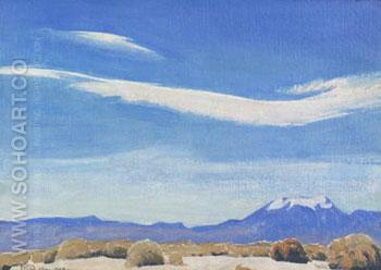 The Cloud Coachella Valley California - Maynard Dixon reproduction oil painting