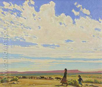 The Edge of Autumn 1923 - Maynard Dixon reproduction oil painting